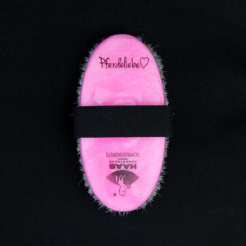 Schmusebürste von HAAS - für empfindliche Stellen pink