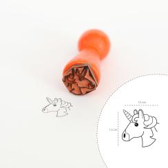 """Mini-Stempel """"Einhorn-Kopf Emoji"""" 1,5 x 1,5 cm"""