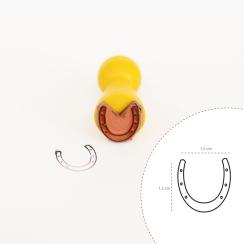 "Mini-Stempel ""Hufeisen Emoji"" 1,5 x 1,5 cm"