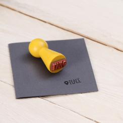 "Mini-Stempel ""Place"" 1,5 x 1,5 cm"