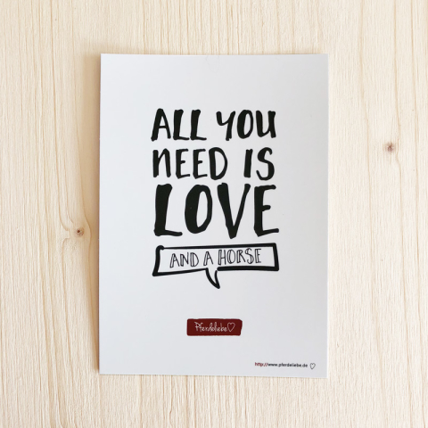 """Karte """"All you need is love ..."""""""