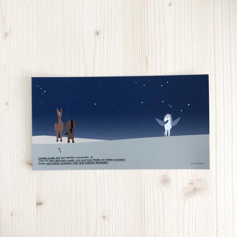 """Karte """"Pegasus! Siehst Du, oder glaubst Du zu sehen?"""""""